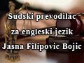 Sudski prevodilac za engleski jezik Jasna Filipovic Bojic