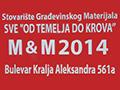 M & M  2014 stovarište građevinskog materijala