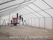 Industrijske, montažne hale i šatori Peprom Novi Sad