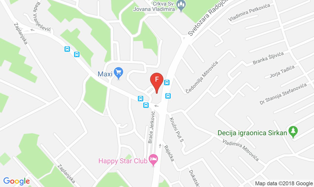 Mapa Sted Commerce Adresa Dragice Koncar 45a Lokacija Vozdovac