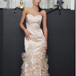 Korset haljina od satena u boji kajsije (veličina 38) - SUPER cena!