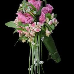 Bidermajeri - Bidermajer od ruža i alstromerija