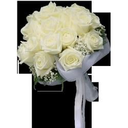 Bidermajeri - Bidermajer sa belim ružama