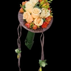 Bidermajeri - Bidermajer sa kajsija ružama