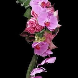 Bidermajeri - Bidermajer sa orhidejama i ružama
