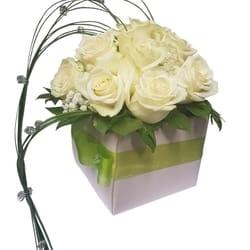 Ruže - Bele ruže u kutiji