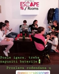 Proslava rodjendana u MMR Escape rooms