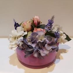 Veštačko cveće - Cvetni aranžman sa hortenzijama