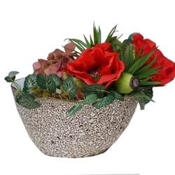 Veštačko cveće - cvetni aranžman u Italijanskoj vazi
