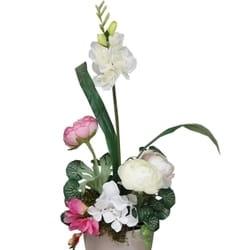 Veštačko cveće - cvetni aranžman u keramičkoj posudi
