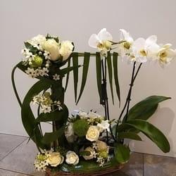 Orhideje - Cvetni aranžman u korpi