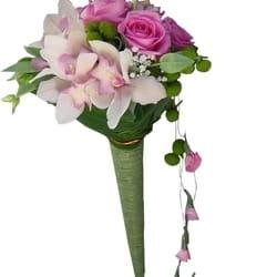 Orhideje - Orhideje i ruže u buketu