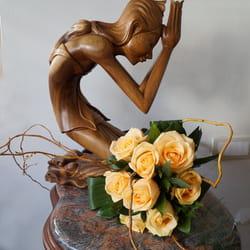 Cveće u narandžastim tonovima - Buket ruža