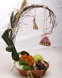 Jesenji cvetni aranžmani - Etno korpa