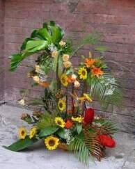 Jesenji cvetni aranžmani - Raskošan cvetni aranžman