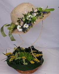 Jesenji cvetni aražmani - Cvetni šešir