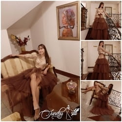 Satenska haljina u kombinaciji sa cipkom