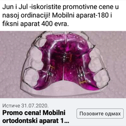 Mobilni ortodontski aparat