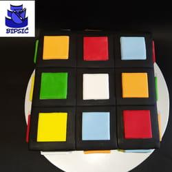 Rubikova kocka torta
