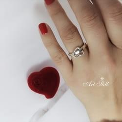 Srebrni prsten bez cirkona