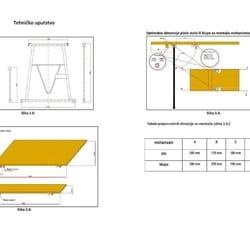 Sklopivi mehanizam za stolove i klupe