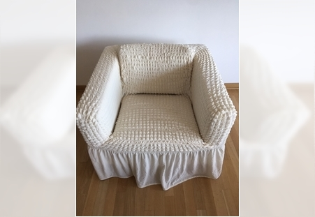 Rasteglive pamučne presvlake za fotelje Svetlo bež