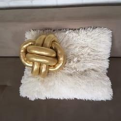 Moderni klupko jastuk od zlatnog lamea