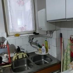 Zapušena sudopera i popravka bojlera u kuhinji