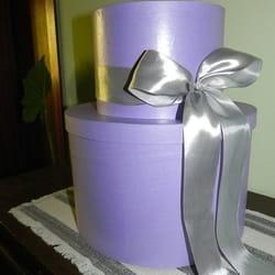 Ukrasna kutija na sprat sa satenskom ružom