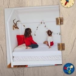 Deciji krevet kucica bele boje