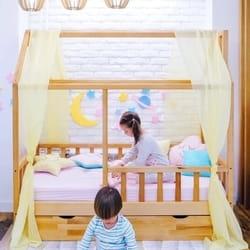 PikPok Krevetić kućica sa fiokama