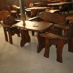 Rucno radjene drvene bastenske garniture