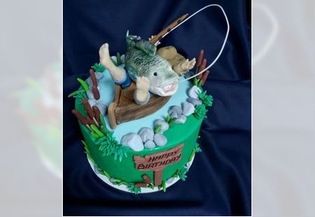 Dečija torta sa figuricama ribolovca