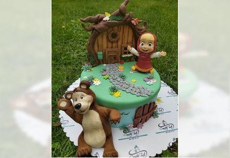 Dečija torta sa likom Maše i Mede