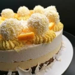 Kokos - oranž sirova torta