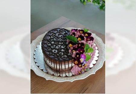 Decija torta čoko malina sa stevijom i inulinom