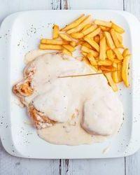 Piletina sa 4 vrste sira u kafani Pavle Korcagin