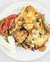 Omlet sa povrćem u kafani Pavle Korcagin