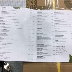 Jelovnik za fast food Mirijevo