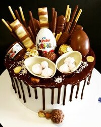 Cokoladna drip torta