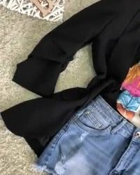 Crna majica sa 3D printom