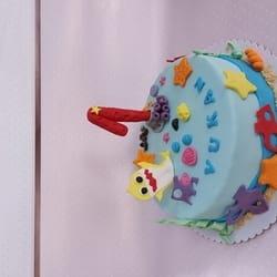 Morska shark torta za prvi rođendan