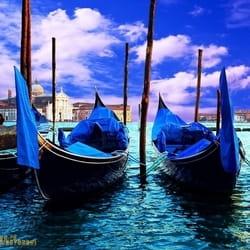 City Venice Three Gondolas Italija Venecija Gondole 3D fototapeta zidni mural foto tapeta