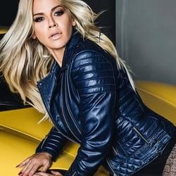 Ženska kožna jakna – Britney – Teget