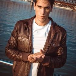 Muška kožna jakna – Invento Philip – Braon