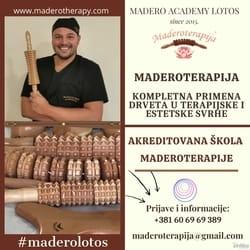 Obuke, škola, masaža, Maderoterapija