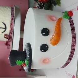 Novogodišnja Sneško torta