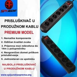 Prisluskivac u produženom kablu PREMIUM
