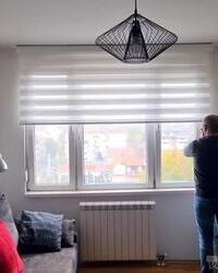 Uspešna montaža zebra zavese na Voždovcu